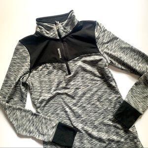 Reebok• black and grey heathered half zip pullover